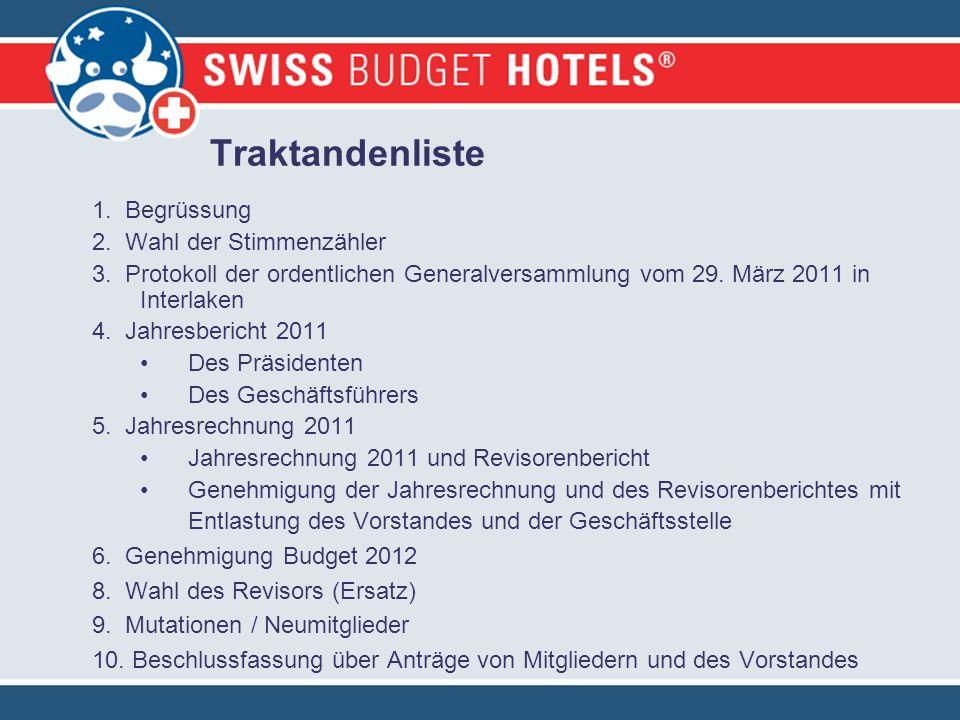 Jahresrechnung 2011 Verein