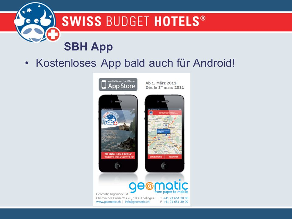 Kostenloses App bald auch für Android! SBH App