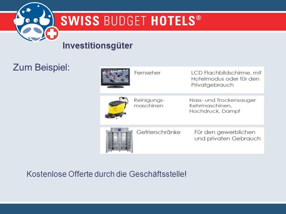Investitionsgüter Zum Beispiel: Kostenlose Offerte durch die Geschäftsstelle!