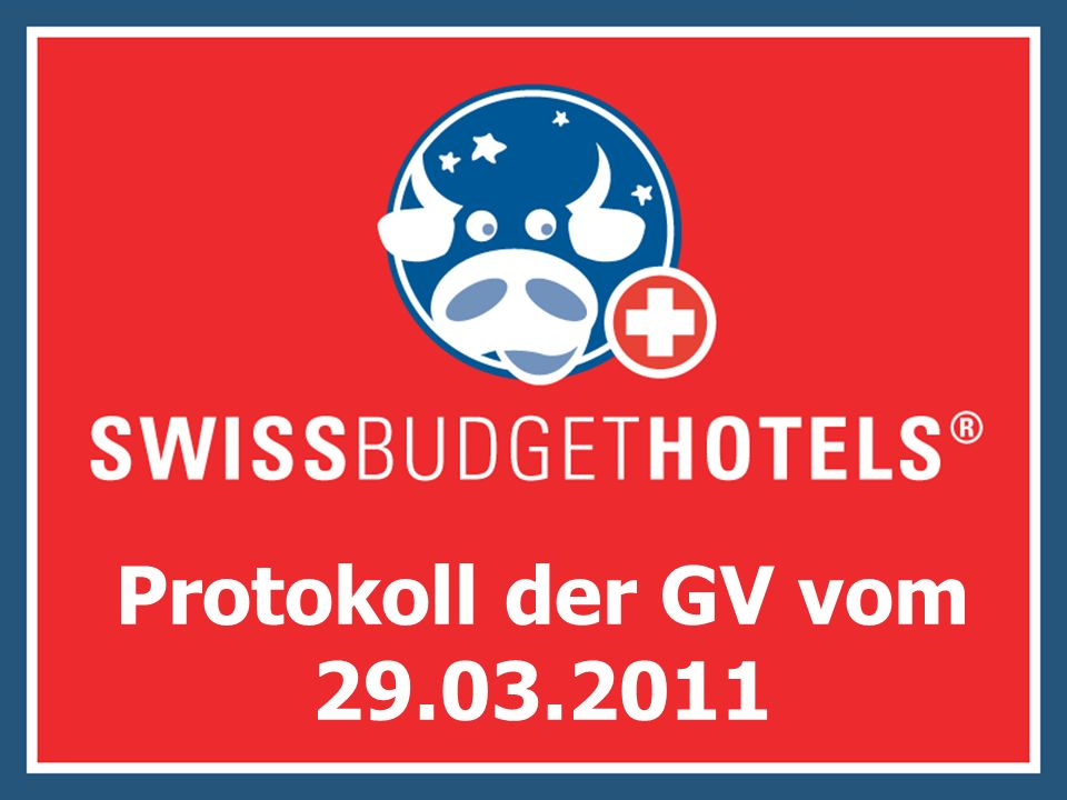 Protokoll der GV vom 29.03.2011