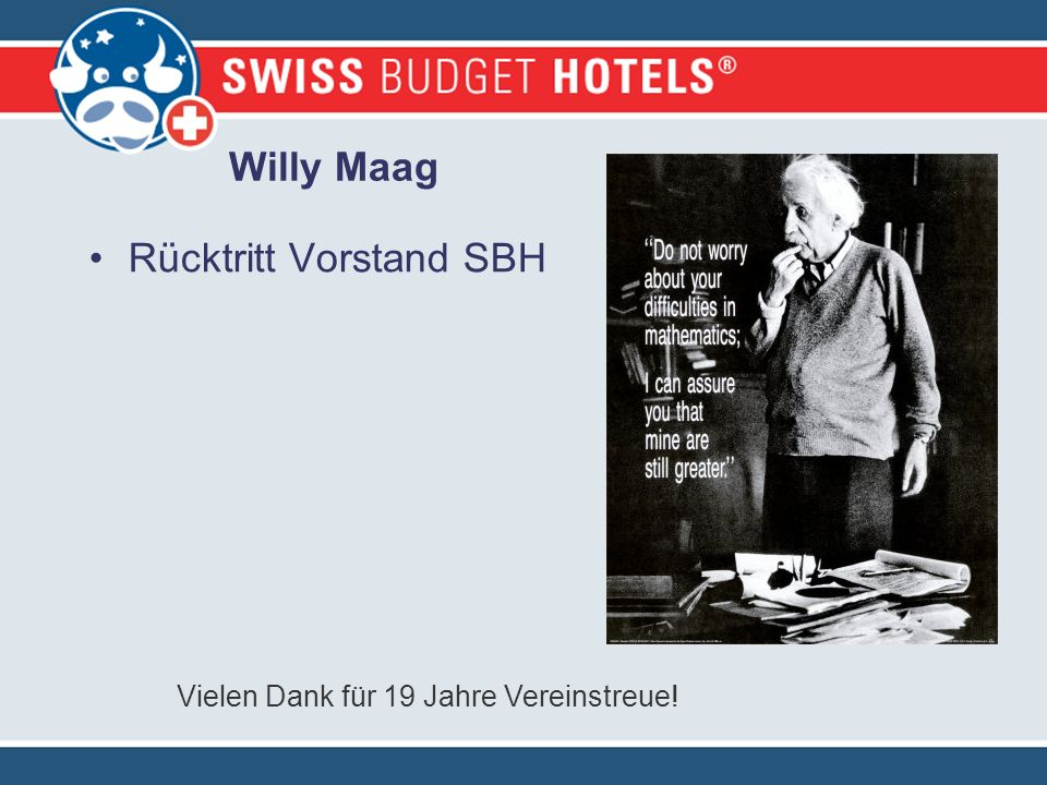 Willy Maag Rücktritt Vorstand SBH Vielen Dank für 19 Jahre Vereinstreue!