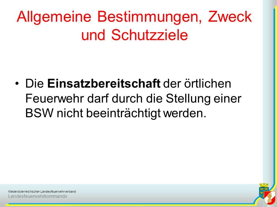 Niederösterreichischer Landesfeuerwehrverband Landesfeuerwehrkommando Aufgaben der Brandsicherheitswache bei Veranstaltungen Das Brand- und Personengefährdungs- potential soll durch die Brandsicherheitswache selbst und die zusätzlichen, erforderlichen Brandschutzmaßnahmen wieder auf ein vertretbares Maß verringert werden.