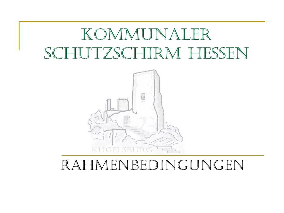 Kommunaler Schutzschirm Hessen Rahmenbedingungen