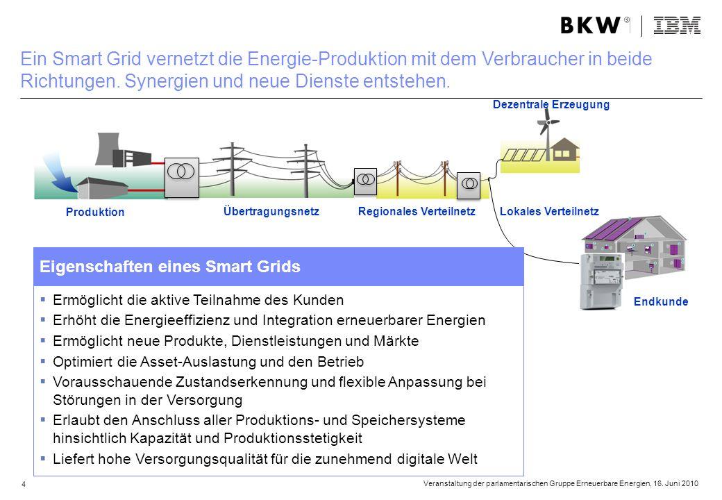 Endkunde Übertragungsnetz Dezentrale Erzeugung Produktion Regionales VerteilnetzLokales Verteilnetz Ermöglicht die aktive Teilnahme des Kunden Erhöht