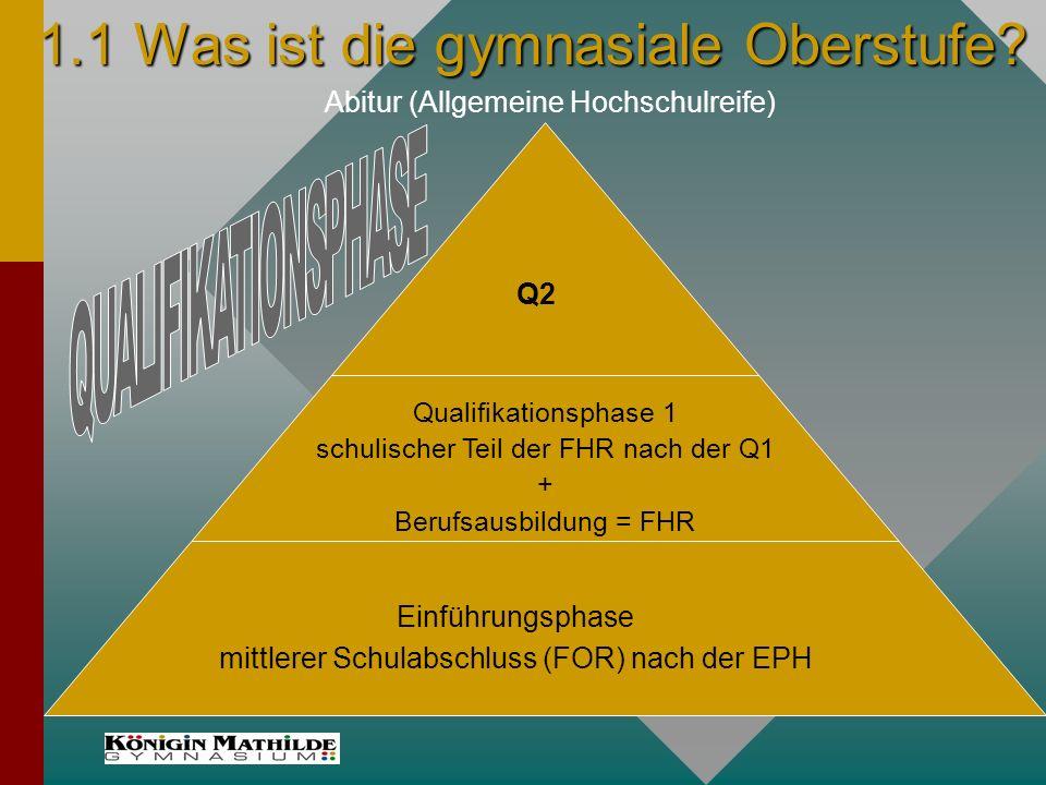2.3.1 Unterrichtsorganisation in der E-Phase Regelfall: 34 Wstd.