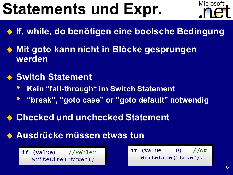 37 Beispiel unsafe Code class FileStream: Stream { int handle; public unsafe int Read(byte[] buffer, int index, int count) { int n = 0; fixed (byte* p = buffer) { ReadFile(handle, p + index, count, &n, null); } return n; } [DllImport( kernel32.dll , SetLastError=true)] static extern unsafe bool ReadFile(int hFile, void* lpBuffer, int nBytesToRead, int* nBytesRead, Overlapped* lpOverlapped); } class FileStream: Stream { int handle; public unsafe int Read(byte[] buffer, int index, int count) { int n = 0; fixed (byte* p = buffer) { ReadFile(handle, p + index, count, &n, null); } return n; } [DllImport( kernel32.dll , SetLastError=true)] static extern unsafe bool ReadFile(int hFile, void* lpBuffer, int nBytesToRead, int* nBytesRead, Overlapped* lpOverlapped); }