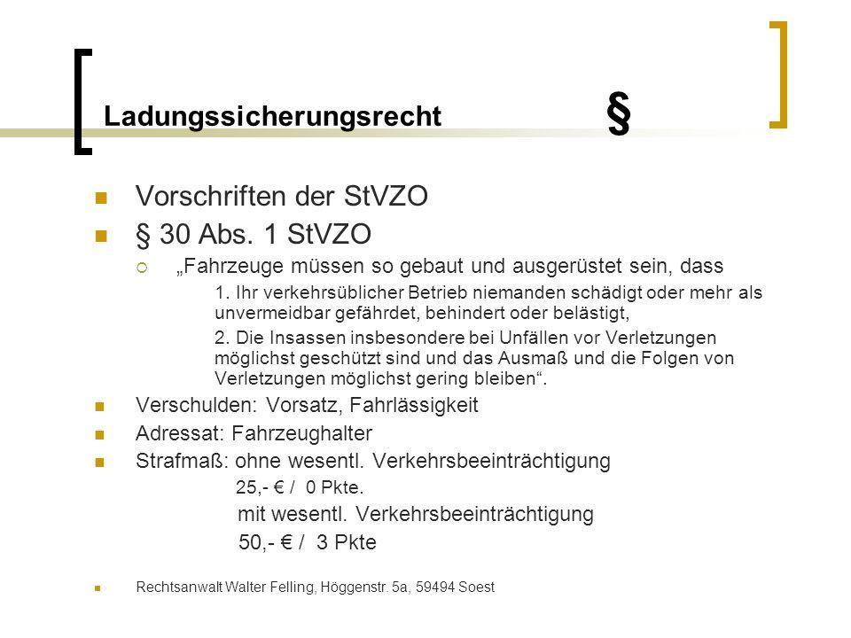 Ladungssicherungsrecht § § 31 Abs.
