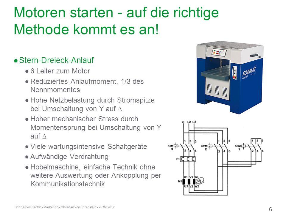 Schneider Electric 6 - Marketing - Christian von Ehrenstein - 25.02.2012 Motoren starten - auf die richtige Methode kommt es an.