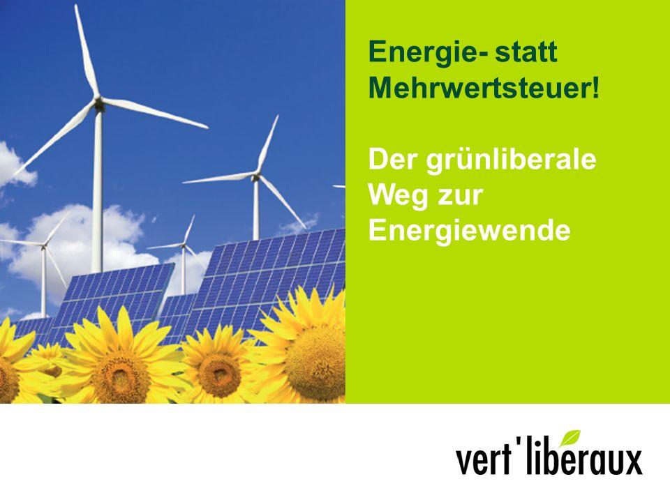Energie- statt Mehrwertsteuer! Der grünliberale Weg zur Energiewende