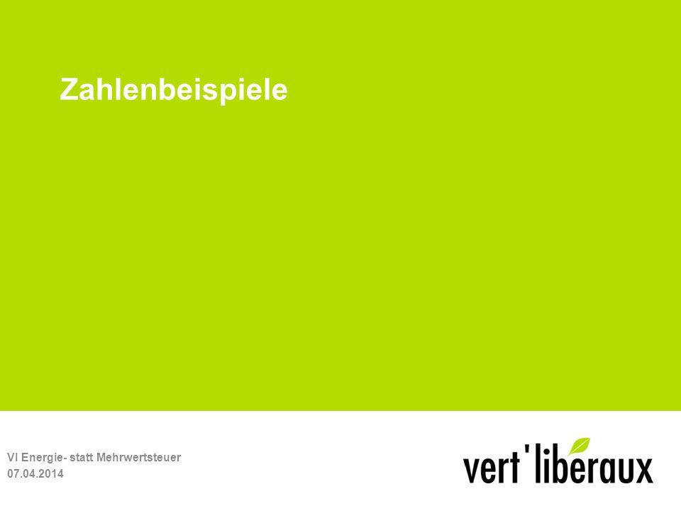 Zahlenbeispiele 07.04.2014 VI Energie- statt Mehrwertsteuer