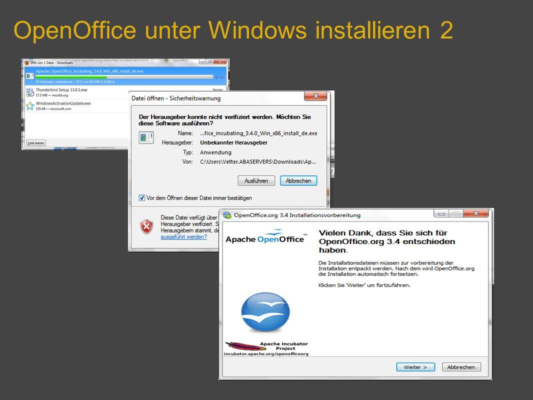 OpenOffice unter Windows installieren 2
