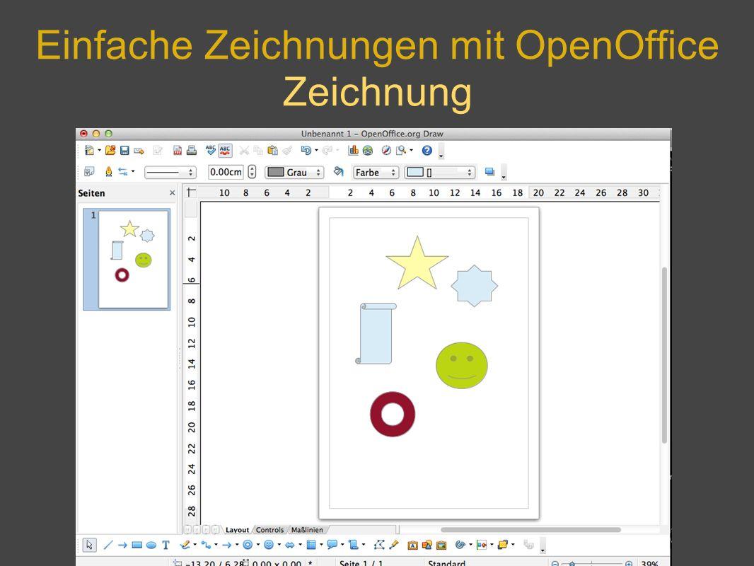 Einfache Zeichnungen mit OpenOffice Zeichnung