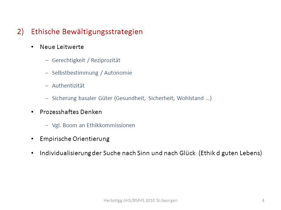 3)Beurteilung a)Nicht nur Werteverfall - auch Werteumbau Vgl.