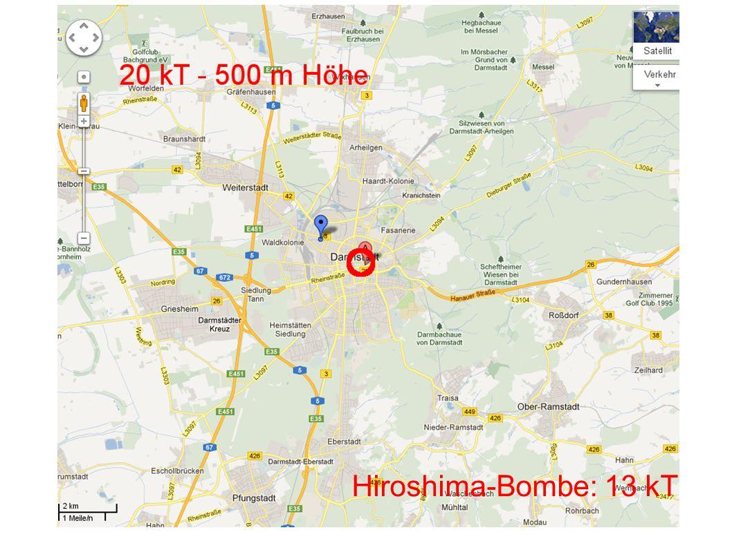 Hiroshima-Bombe: 13 kT