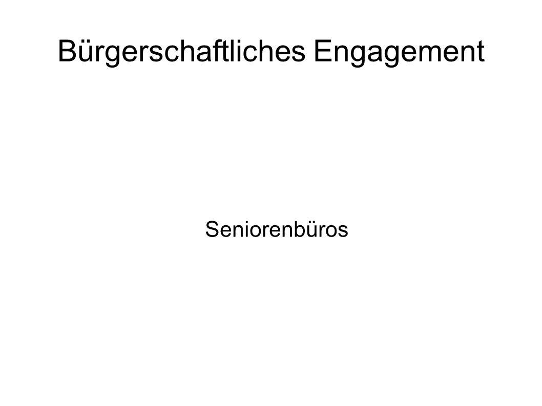 Bürgerschaftliches Engagement Seniorenbüros