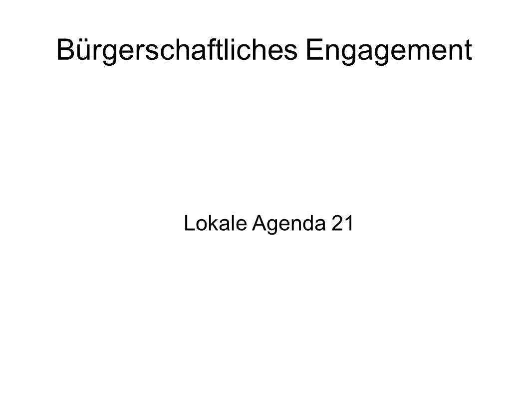 Bürgerschaftliches Engagement Lokale Agenda 21