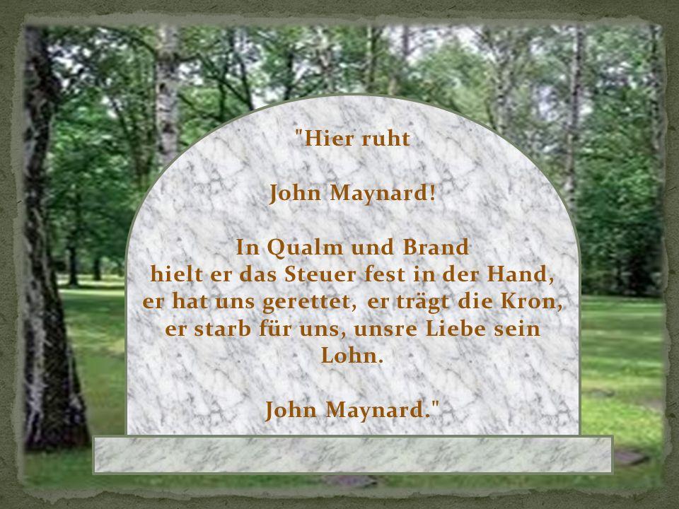 Sie lassen den Sarg in Blumen hinab, mit Blumen schließen sie das Grab, und mit goldner Schrift in den Marmorstein schreibt die Stadt ihren Dankspruch ein: