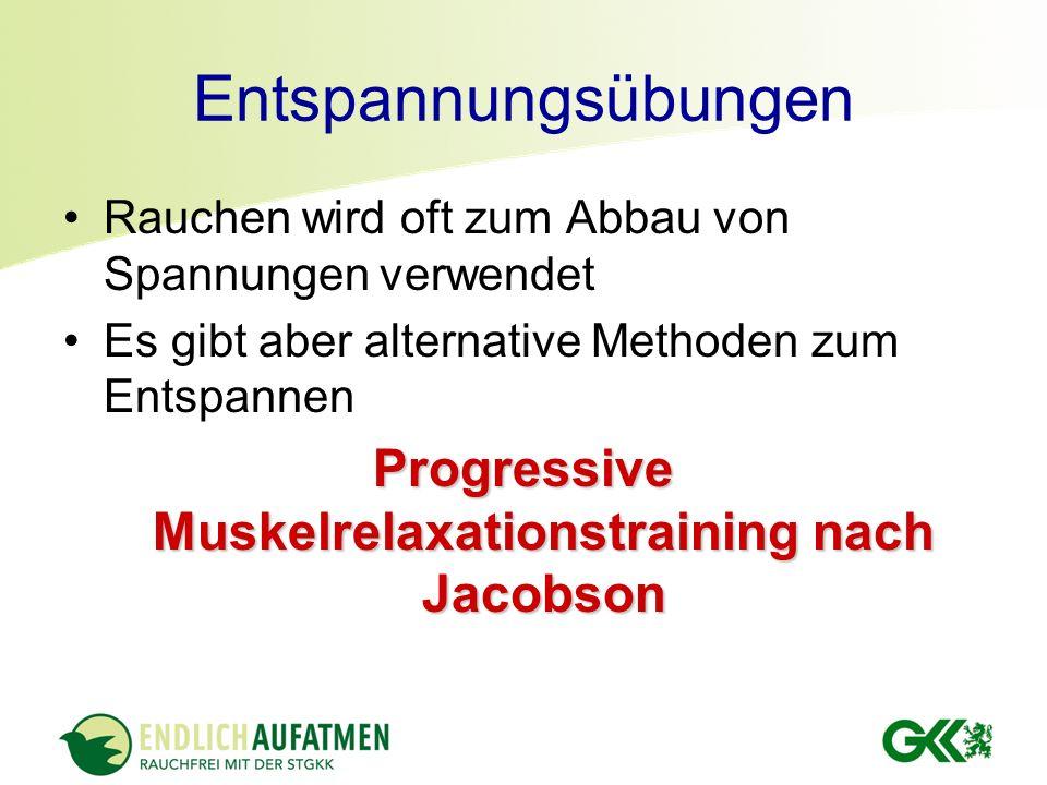 Progressive Muskelrelaxation nach Jacobson Anwendung zum Erlernen 2-3x tägl.