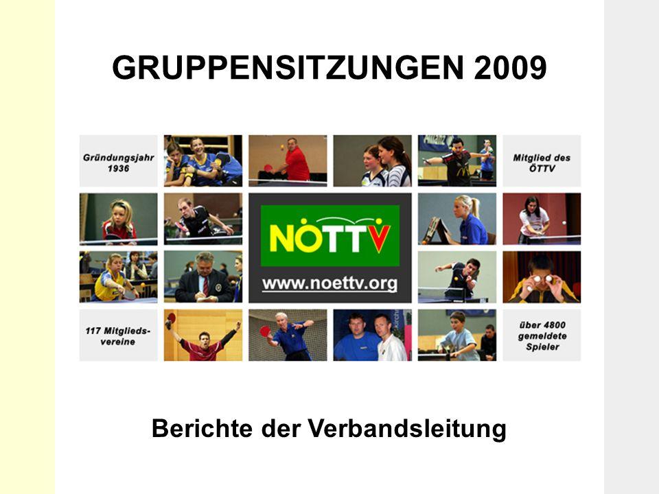 Gruppensitzungen 2009 Berichte der Verbandsleitung GRUPPENSITZUNGEN 2009