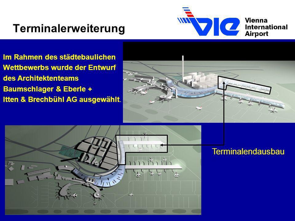 Terminalerweiterung Im Rahmen des städtebaulichen Wettbewerbs wurde der Entwurf des Architektenteams Baumschlager & Eberle + Itten & Brechbühl AG ausg