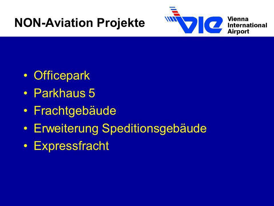 NON-Aviation Projekte Officepark Parkhaus 5 Frachtgebäude Erweiterung Speditionsgebäude Expressfracht