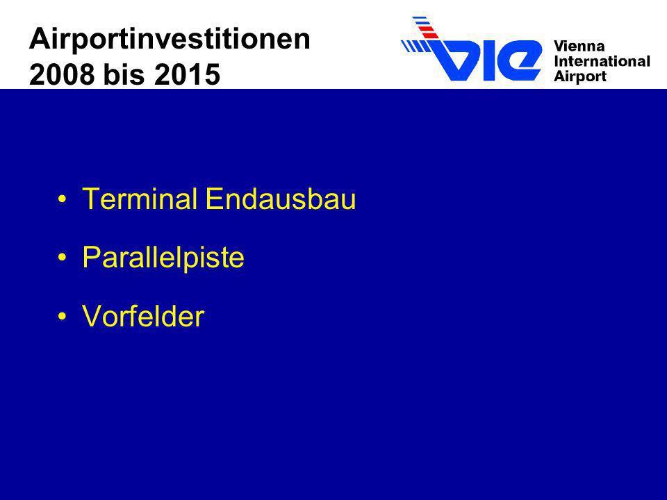 Airportinvestitionen 2008 bis 2015 Terminal Endausbau Parallelpiste Vorfelder