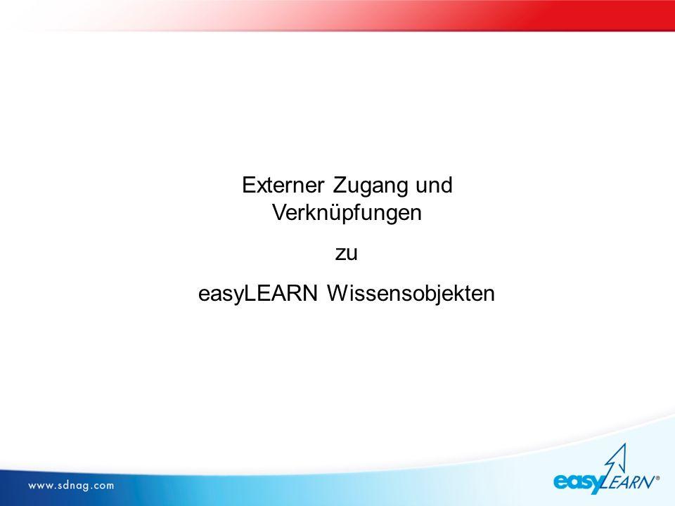 logo Externer Zugang und Verknüpfungen zu easyLEARN Wissensobjekten