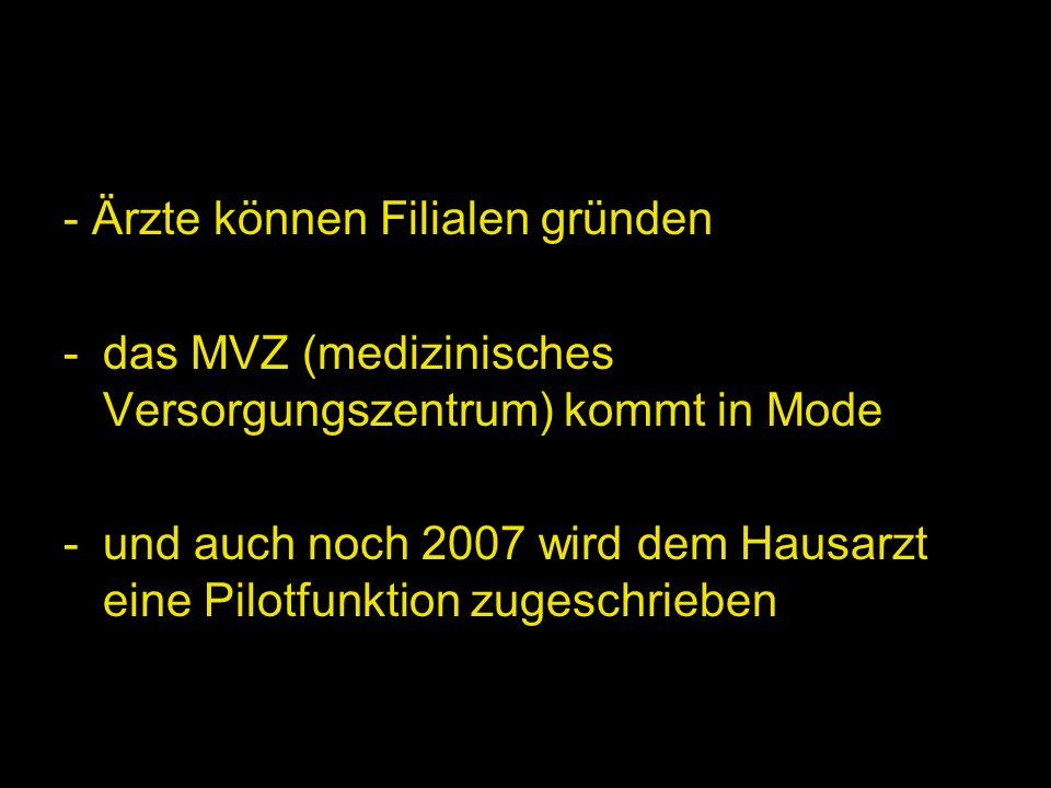 Doch nun ein Blick in die Zukunft: zum 31.3.08 wird von der AOK Bayern der Gesamtvertrag und Strukturvertrag gestrichen zum 31.12.08 wird die Kündigung des AOK-Hausarztvertrages wegen der nicht mehr benötigten DMPs erwartet.