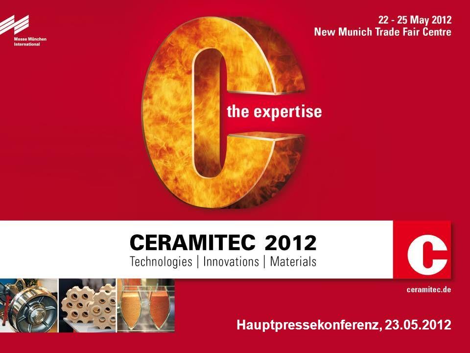 2 Herzlich Willkommen .CERAMITEC 2012 Technologies / Innovations / Materials 22.