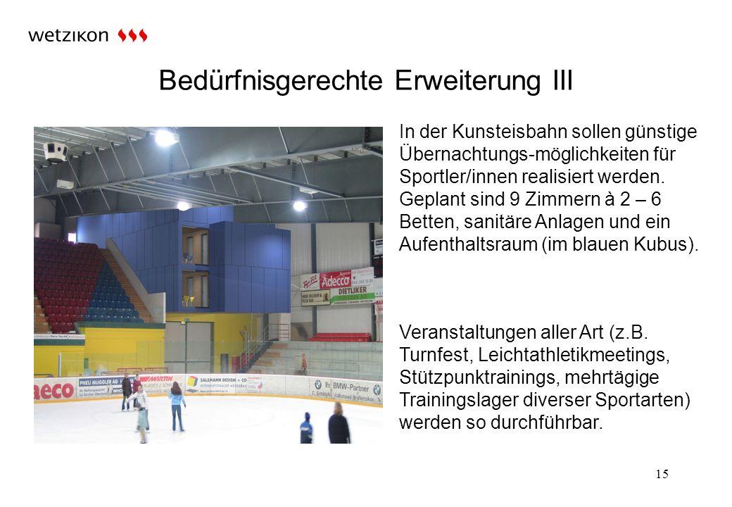 15 Bedürfnisgerechte Erweiterung III Veranstaltungen aller Art (z.B.