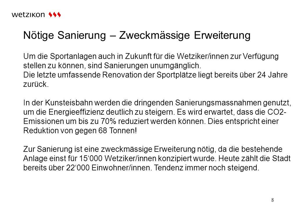 Sanierungs- und Erweiterungskosten: 19 Fr.15.54 Mio.