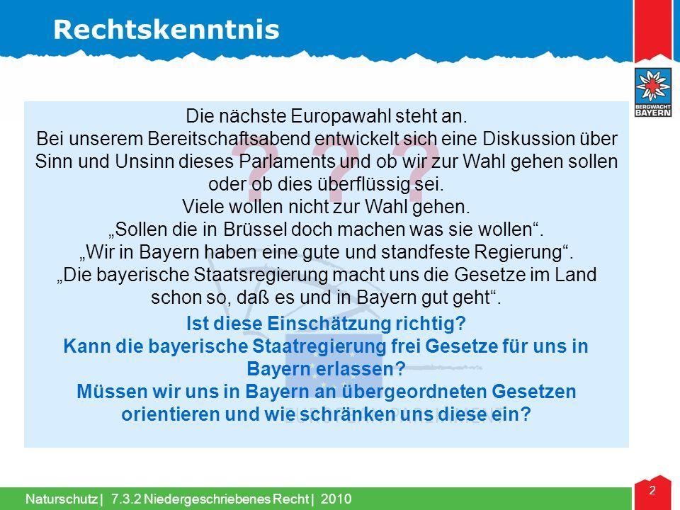 Naturschutz | 2 .Die nächste Europawahl steht an.