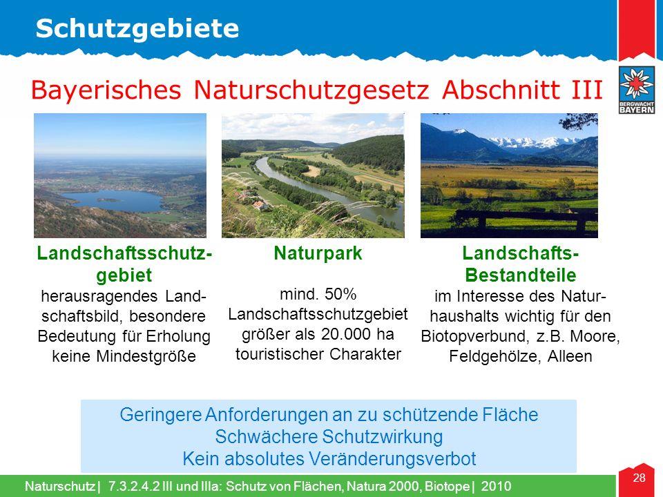 Naturschutz | 28 Landschaftsschutz- gebiet herausragendes Land- schaftsbild, besondere Bedeutung für Erholung keine Mindestgröße Naturpark mind.