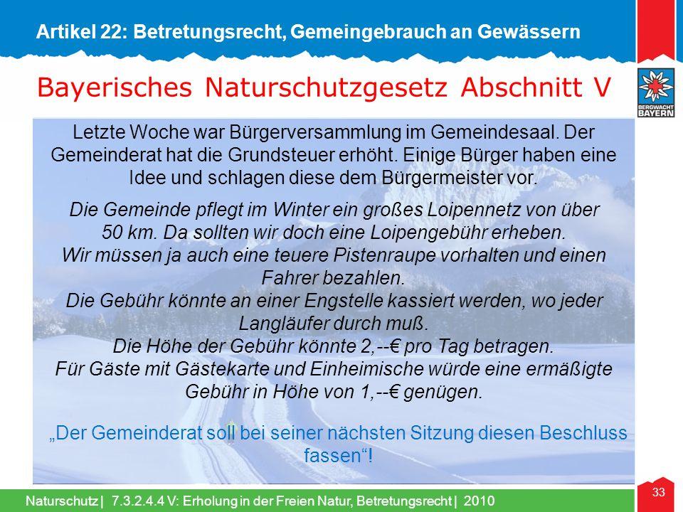 Naturschutz | 33 Letzte Woche war Bürgerversammlung im Gemeindesaal.