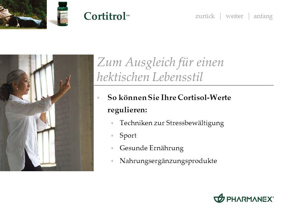 zurückweiteranfang Cortitrol Das neue Cortitrol Exklusive Formulierung von Pharmanex.