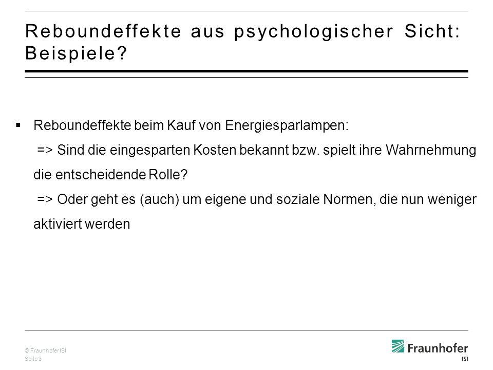 © Fraunhofer ISI Seite 14 Soziodemographische Unterschiede.