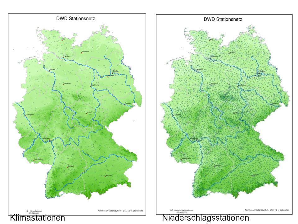 10 Karten Klimastationen Niederschlagsstationen