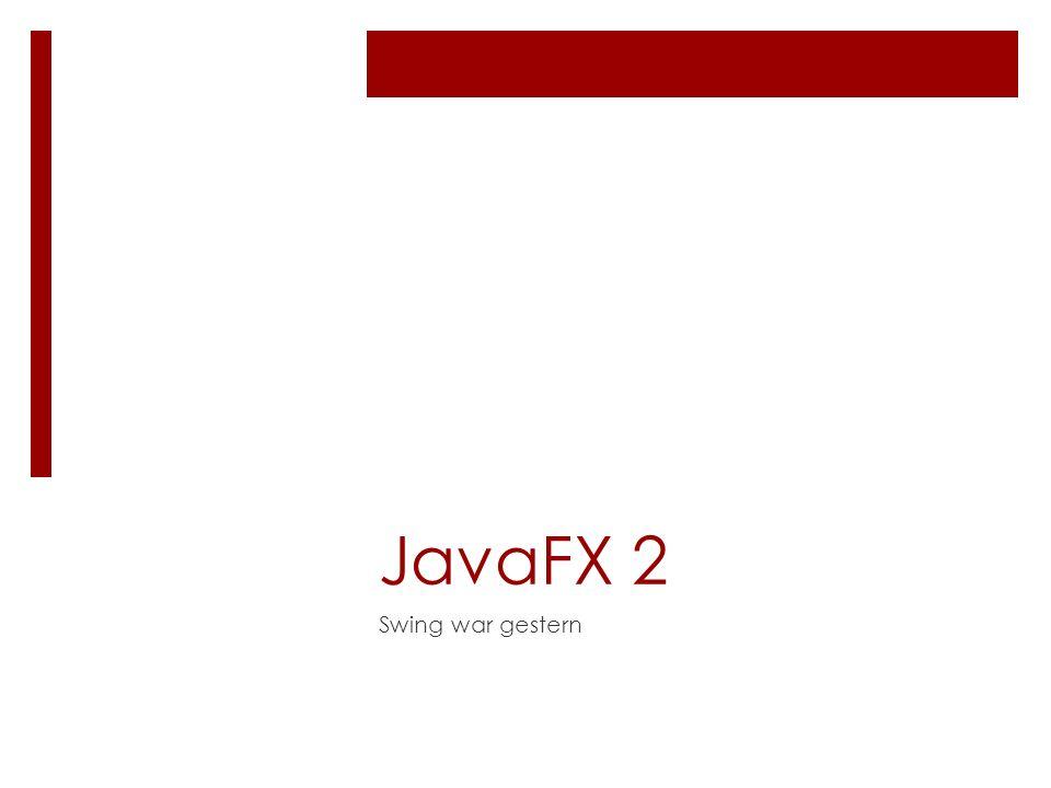 JavaFX 2 Swing war gestern
