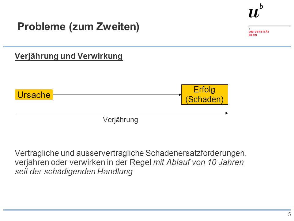 6 Revision des Verjährungsrechts des schweizerischen Rechts > Parlamentarische Initiativen 2006 (Verlängerung der Verjährungsfristen von Forderung bei Spätschäden) > Hängiges Verfahren vor dem EGMR (Verletzung von Art.
