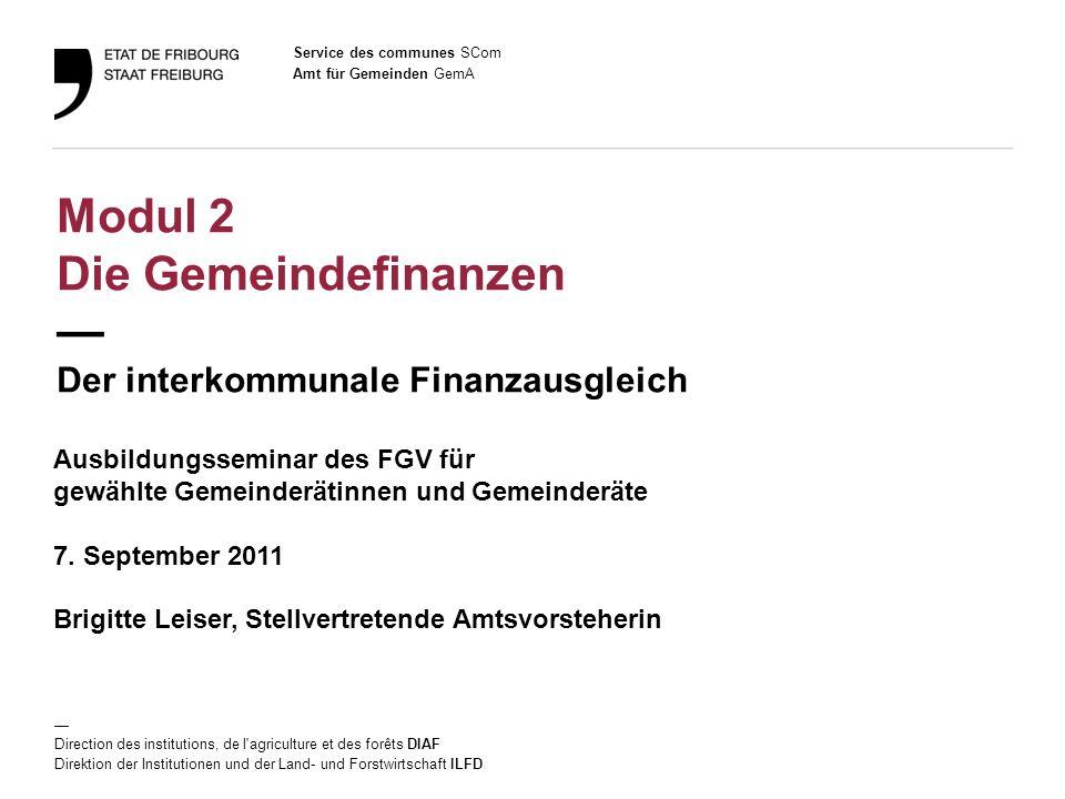 2 Amt für Gemeinden GemA Ausbildungsseminar des FGV / 7.