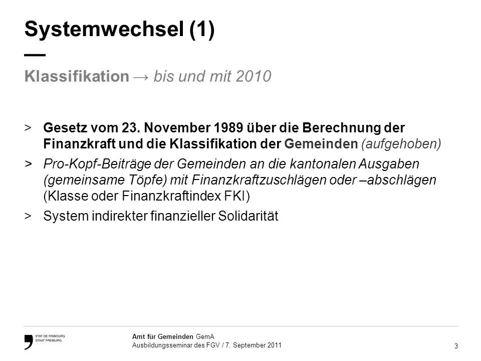 14 Amt für Gemeinden GemA Ausbildungsseminar des FGV / 7.