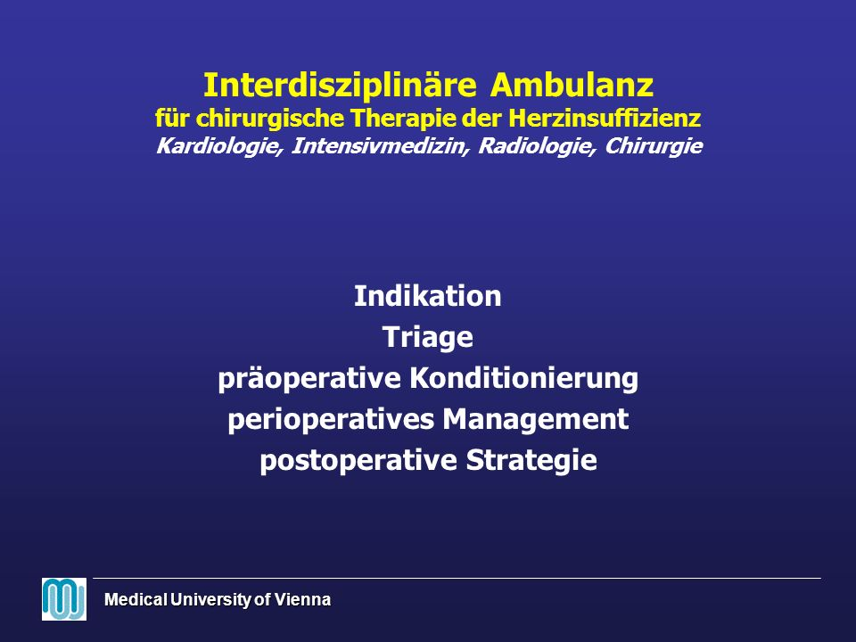 Medical University of Vienna * p<.05 vs.Ausgangswert p<.05 vs.