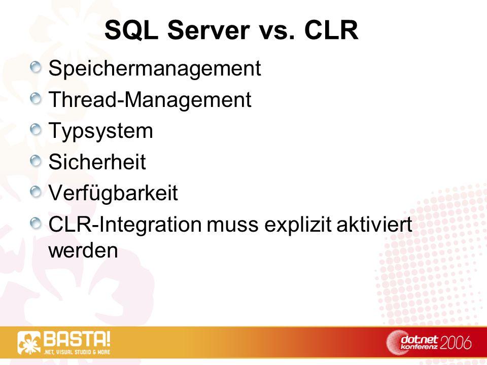 SQL Server vs.