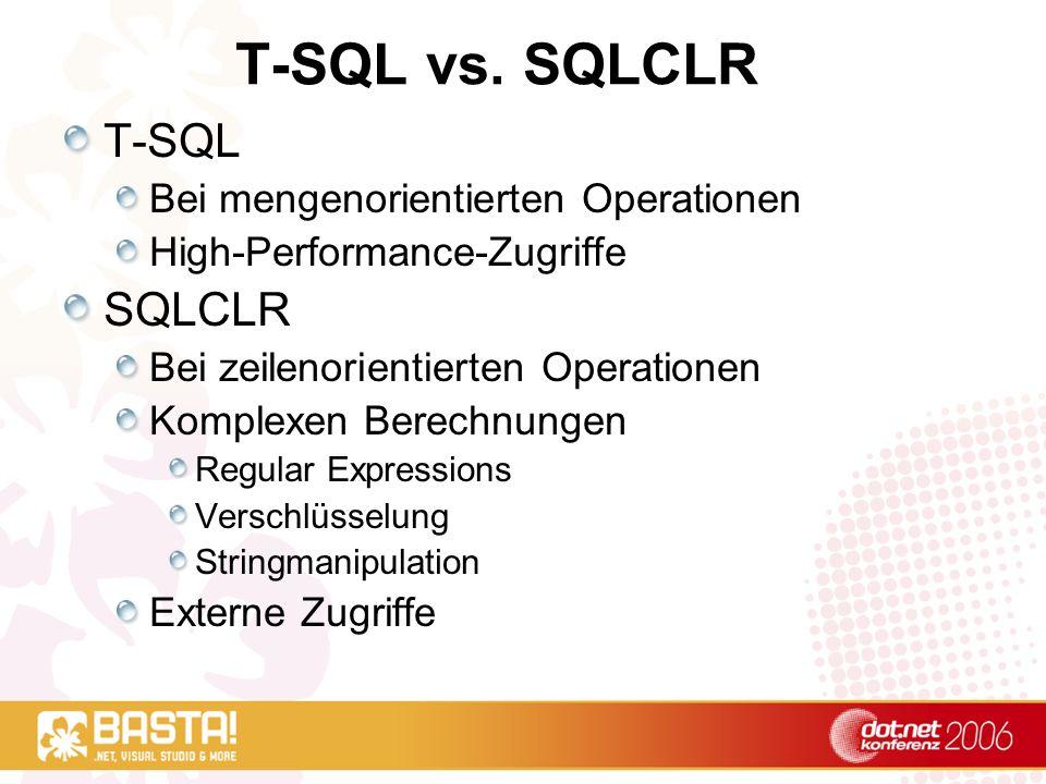 T-SQL vs.