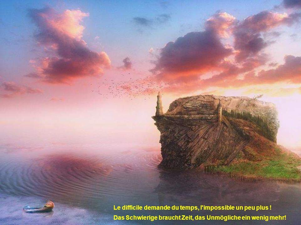 L'erreur est humaine, admettre la sienne est surhumain ! Irren ist menschlich, es zuzugeben ist übermenschlich!