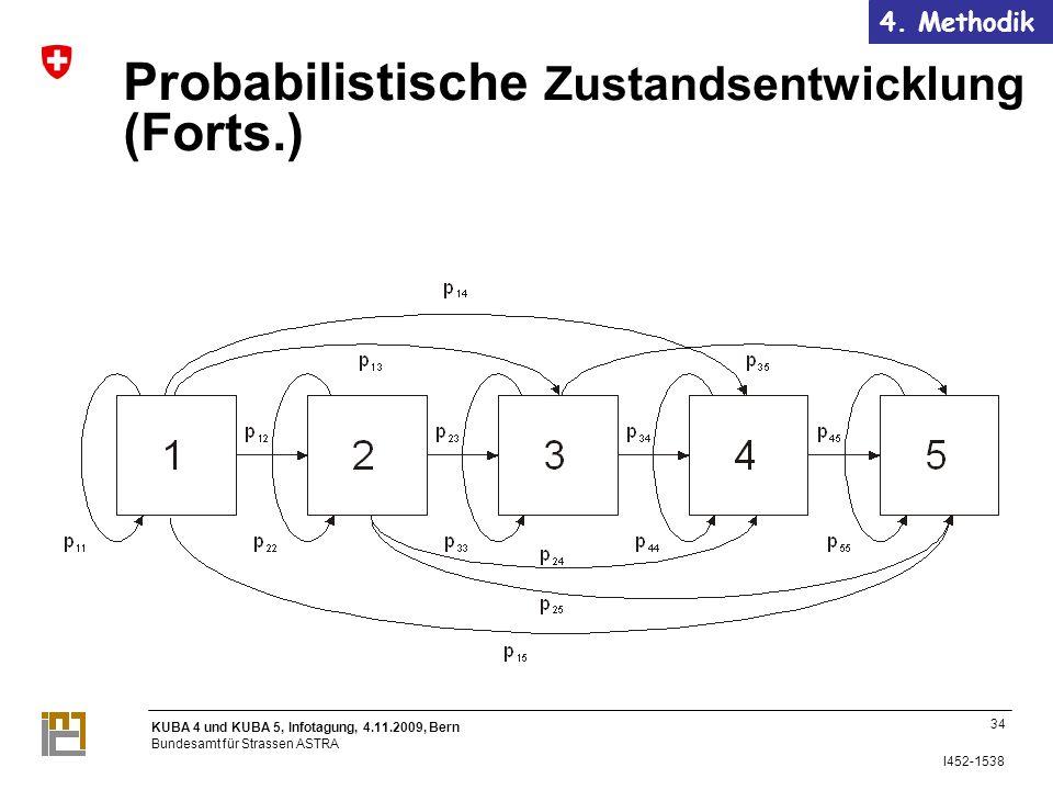 KUBA 4 und KUBA 5, Infotagung, 4.11.2009, Bern Bundesamt für Strassen ASTRA I452-1538 34 Probabilistische Zustandsentwicklung (Forts.) 4.