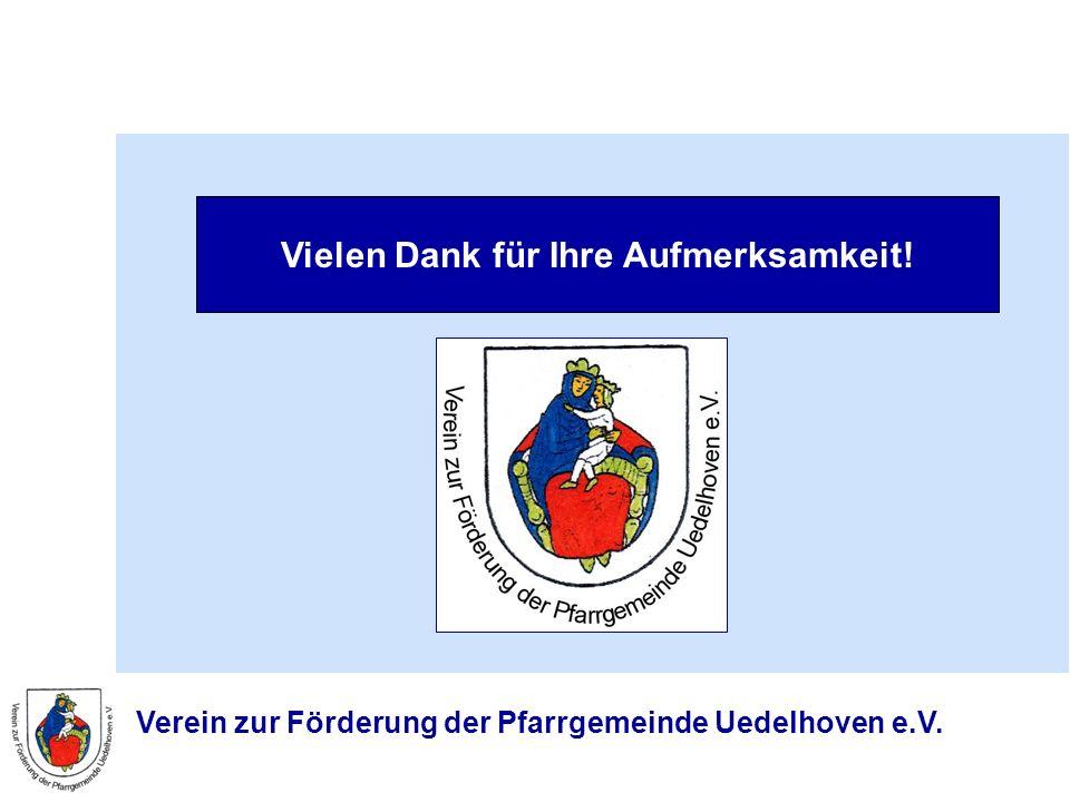 Verein zur Förderung der Pfarrgemeinde Uedelhoven e.V. Vielen Dank für Ihre Aufmerksamkeit!