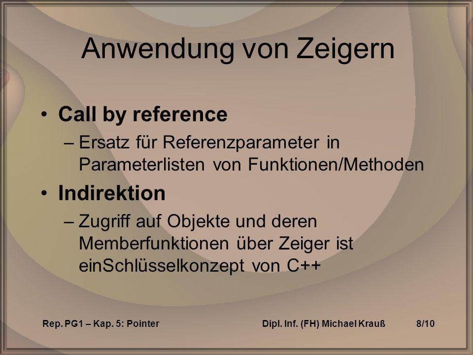 Rep. PG1 – Kap. 5: PointerDipl. Inf.