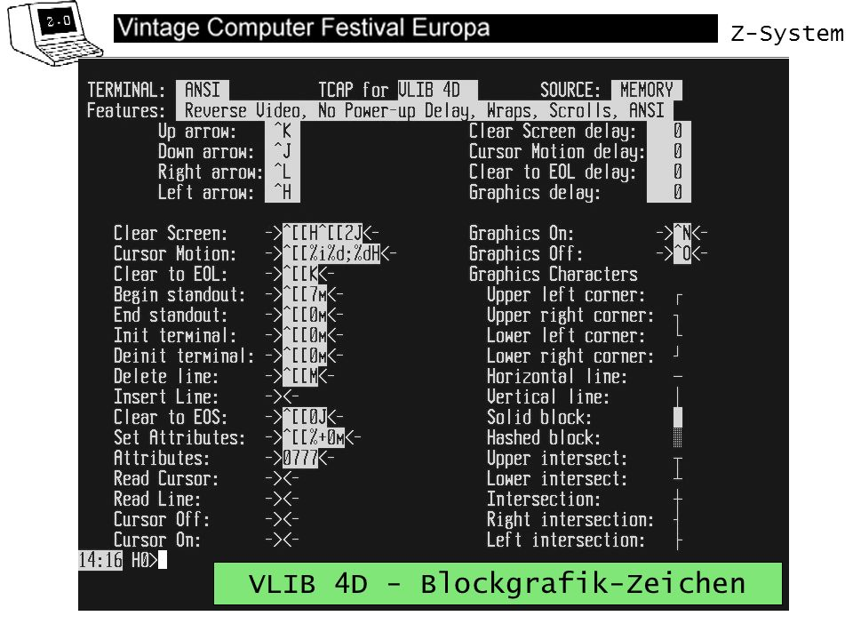 Z-System VLIB 4D - Blockgrafik-Zeichen