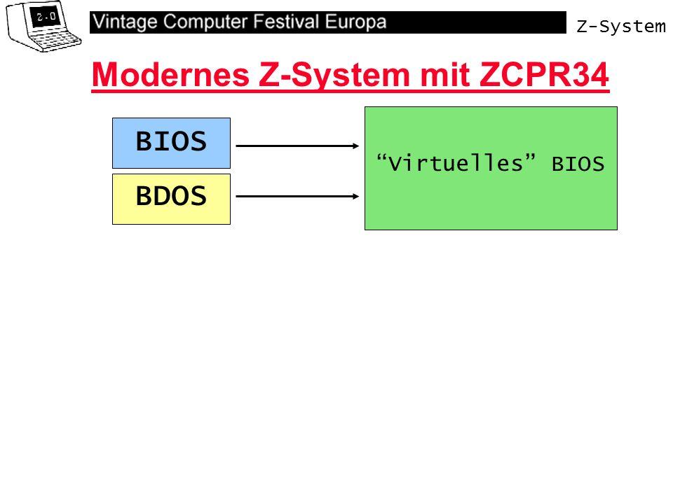 Z-System Virtuelles BIOS Modernes Z-System mit ZCPR34 BDOS BIOS